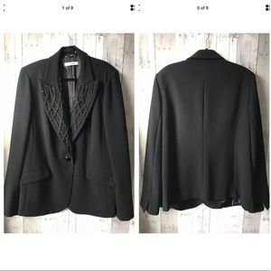 Marina Rinaldi Black One Button Blazer Jacket